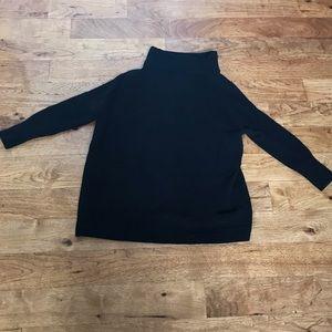 Free People women's black mock turtleneck sweater